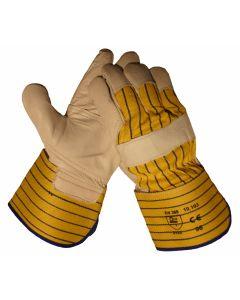 10193 Handschoen Rund-/boxleder palm- en duimversterkt