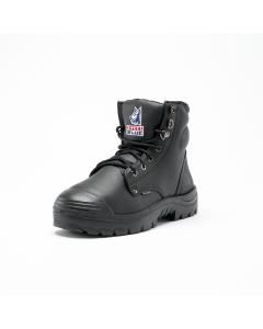 Steel Blue Argyle Zwart hoge werkschoen met Kruipneus S3