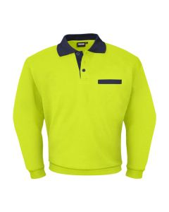 Polosweater Indushirt PSW300 Lime-Navy