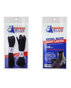 Steel Blue schoenveters zwart 110 cm