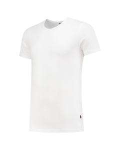 T-Shirt Elastaan Slim Fit V Hals