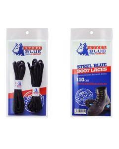 Steel Blue schoenveters 140 cm zwart
