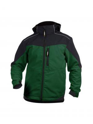 Dassy Jakarta tweekleurig softshell jack groen-zwart