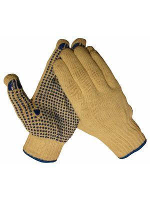 10042 Katoenen rondbrei handschoen met nopjes