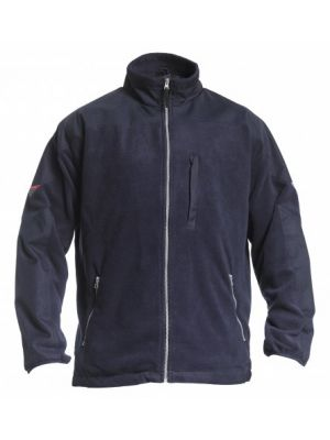 1190-925-06 FE Engel Fleecejack met canvas verstevigingen (navy)