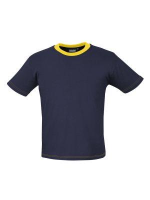 T-shirt Indushirt TS180 Navy-Geel