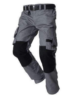 Werkbroek canvas met cordura Tricorp TWC2000 grijs-zwart