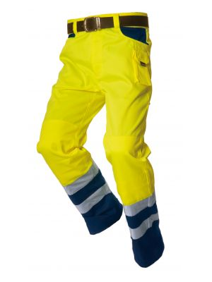 Werkbroek Worker tweekleurig EN471 Tricorp TWE3001 Geel-Navy